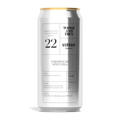 Wiper & True x Verdant 22 Farmhouse Spelt Pils