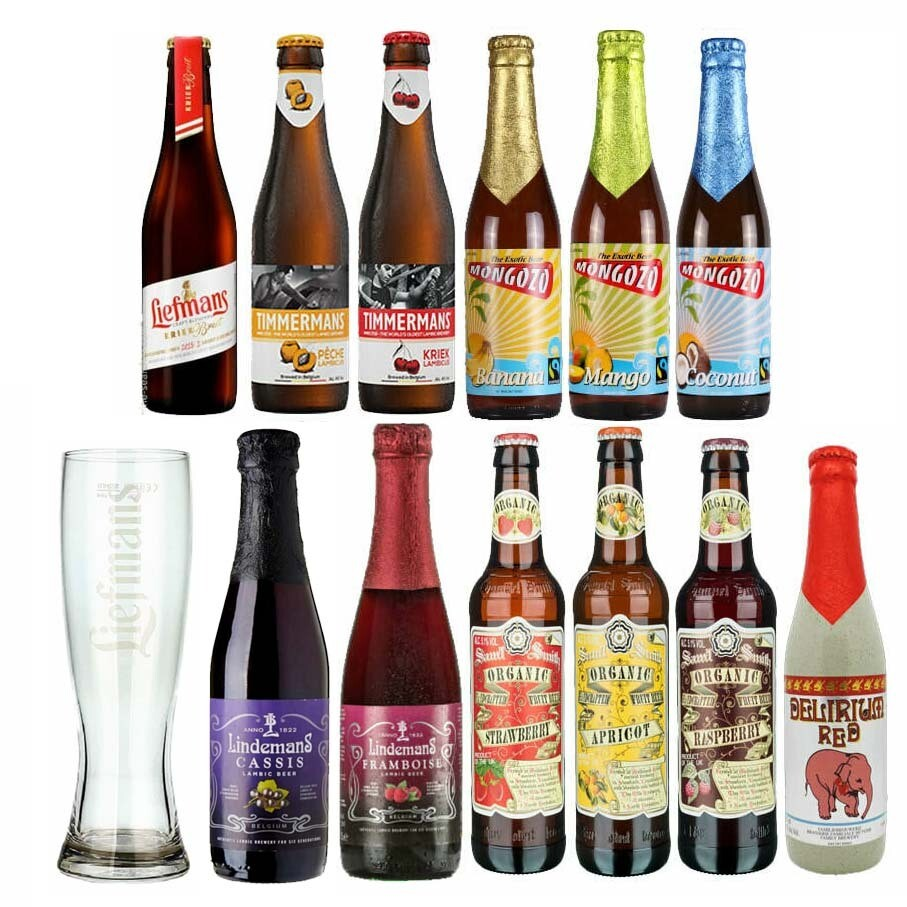 Fruit Beer + Free Glass 12 Pack