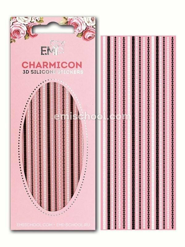 Charmicon 3D Silicone Stickers Chain #7 Black/White