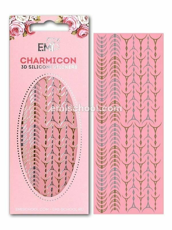 Charmicon 3D Silicone Stickers Lunula #33 Gold/Silver