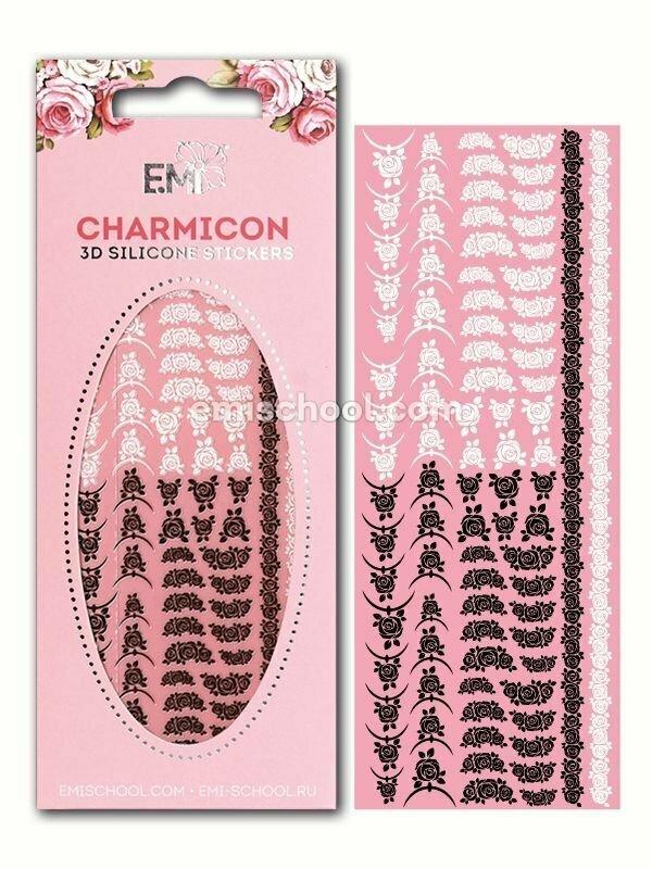 Charmicon 3D Silicone Stickers Lunula MIX #24 Black/White