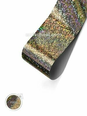Foil holographic silver Small Crystals, 1.5 m.