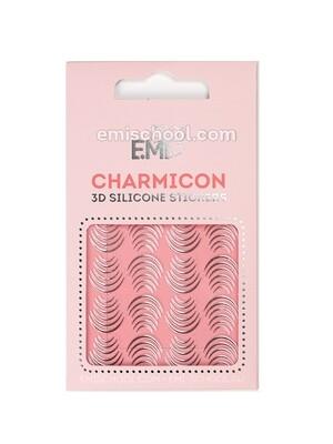 Charmicon 3D Silicone Stickers #116 Lunula Silver