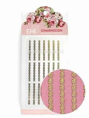 Charmicon 3D Silicone Stickers Ornament Gold #1