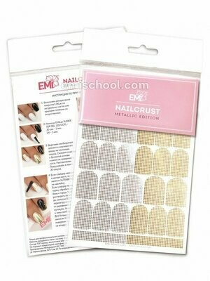 NAILCRUST Pattern Sliders #44 Disco Gold/Silver