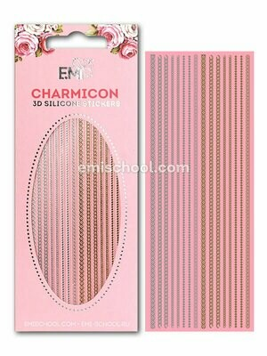 Charmicon 3D Silicone Stickers Chain #1 Gold/Silver