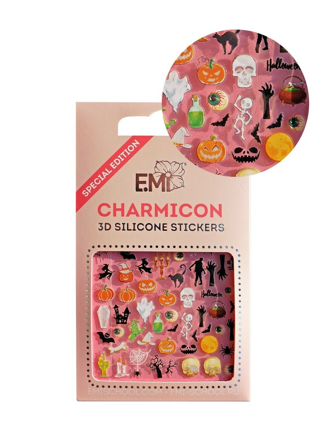 Charmicon 3D Silicone Stickers Halloween 1
