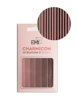 Charmicon 3D Silicone Stickers #162 Lines Black