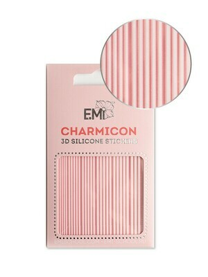 Charmicon 3D Silicone Stickers #163 Lines White