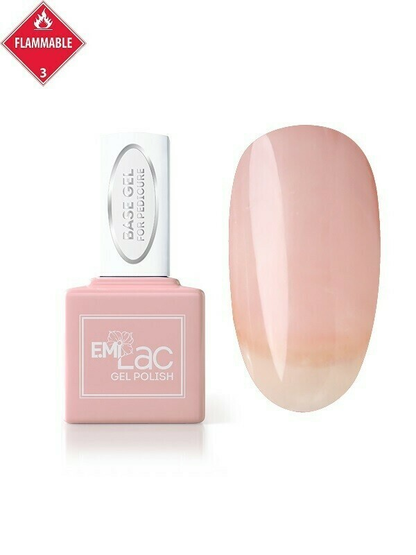 E.MiLac Base Gel for Pedicure, 9 ml.