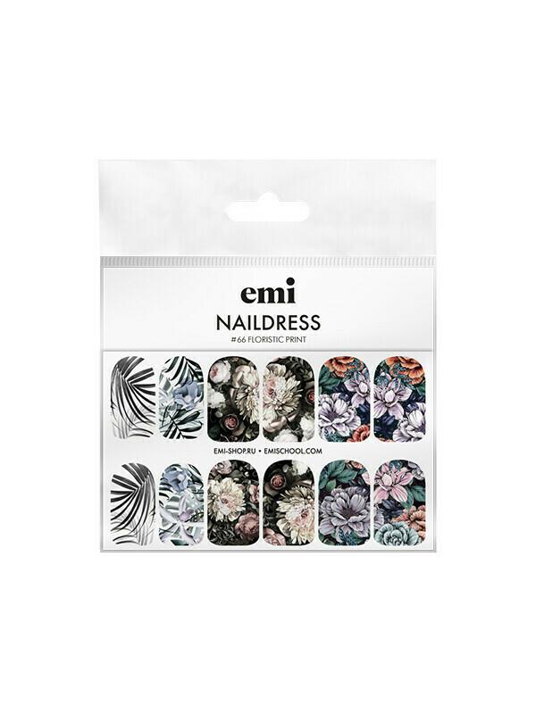 Naildress Slider Design #66 Floristic Print