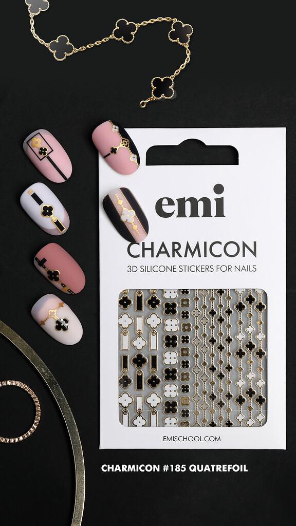 Charmicon 3D Silicone Stickers #185 Quatrefoil
