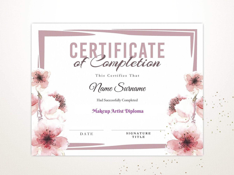 Live Beauty Course Certificate of Achievement PDF