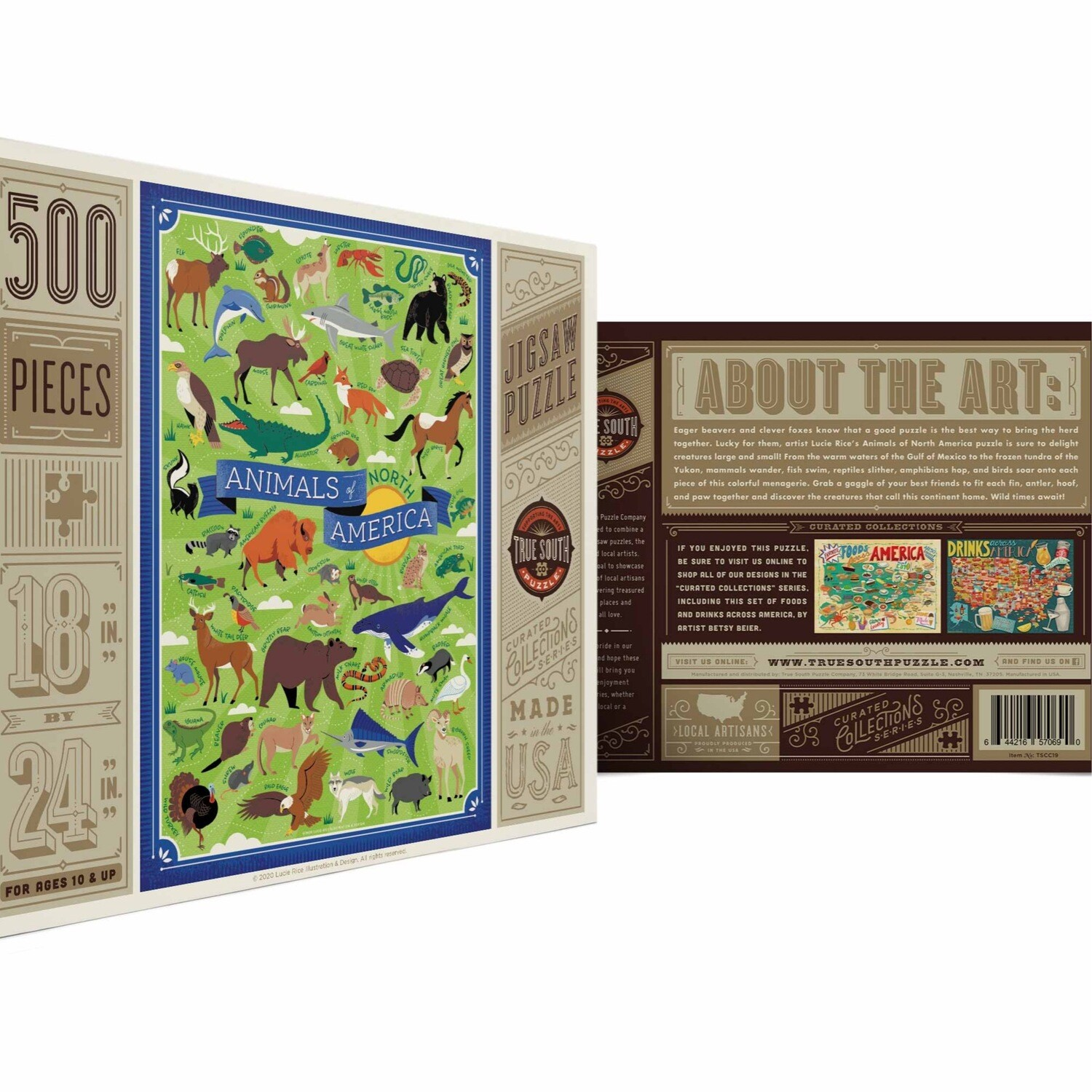 True south 500 piece puzzle Animals of America