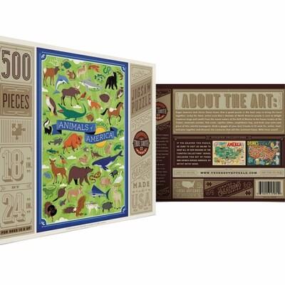 True south 500 piece puzzle Animals of America