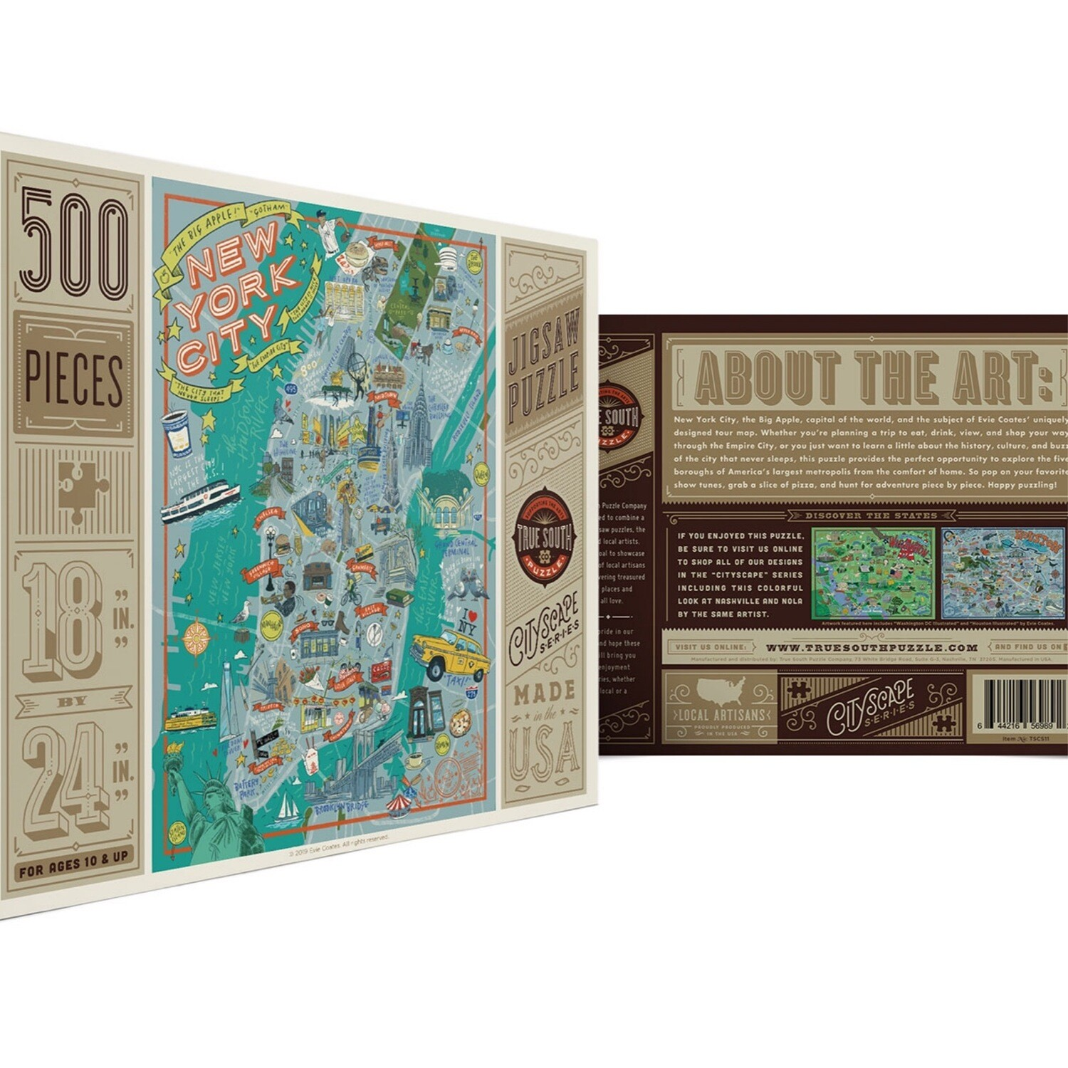 True  South 500 piece puzzle New York