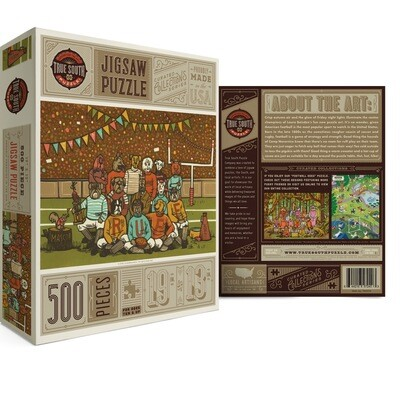 True south 500 piece puzzle curated collection football