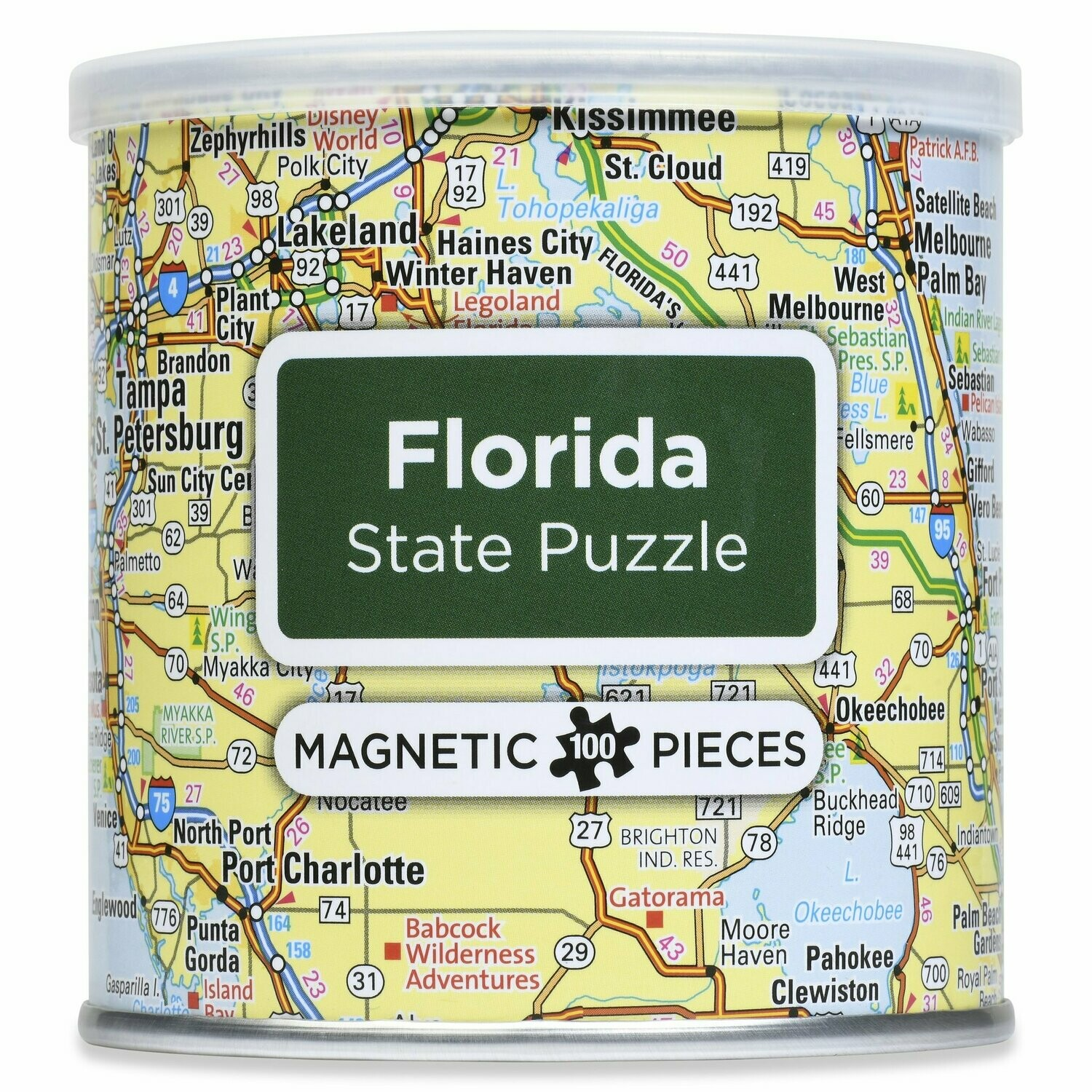 100 Piece Magnetic Puzzle - Florida