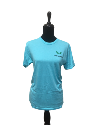 Fern and a Feather t-shirt Blue