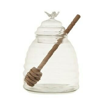 "3-3/4"" Round x 5""H Glass Honey Jar"