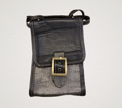 Black and grey crossbody