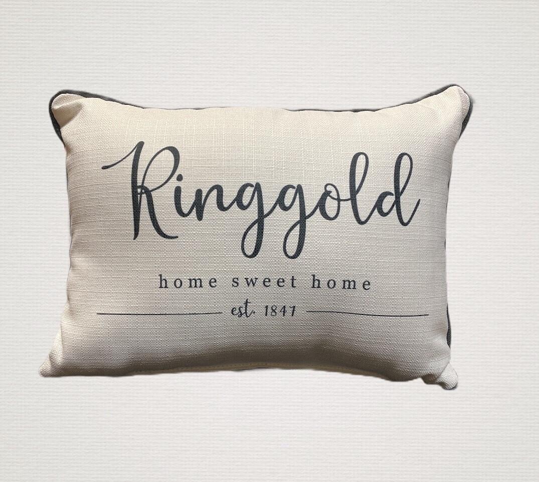 Ringgold CITY EST. PILLOW