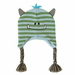 KNIT HAT - BLUE MONSTER, 6-24 MONTHS