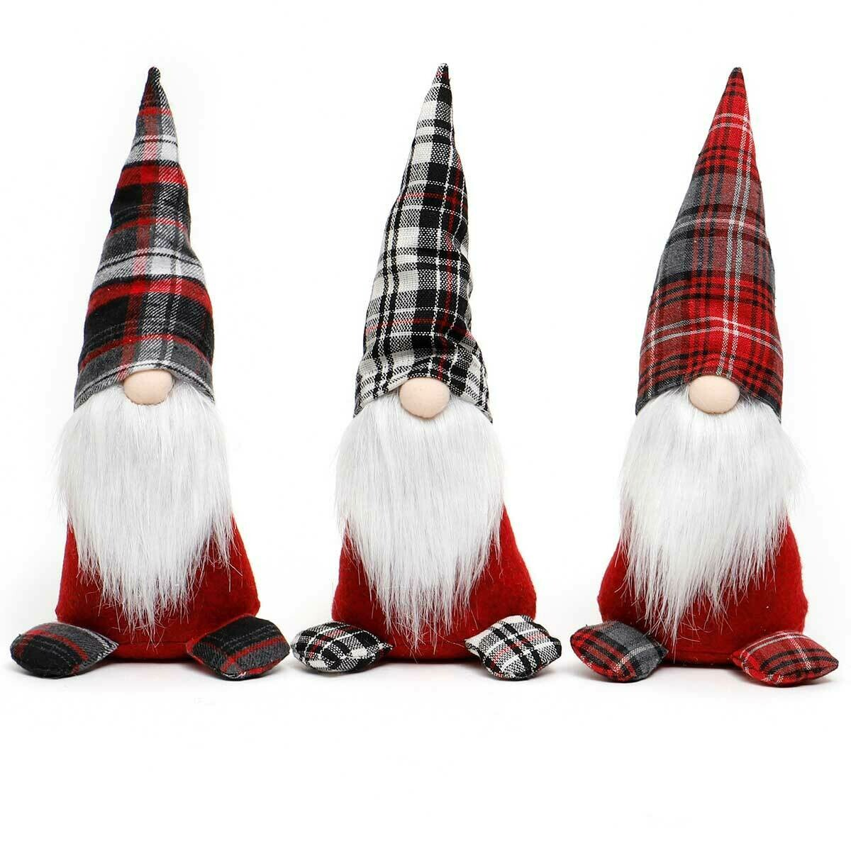 LUKI GNOME WITH PLAID HAT AND BOOTS