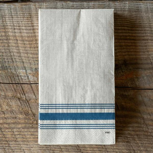 Cottage Stripe Paper Dinner Napkins
