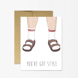 Socks and Sandals Card