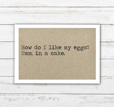 Eggs in Cake Magnet