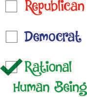 Republican... Democrat... Rational