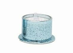 ICE BLUE MERCURY GLASS 'MERRY