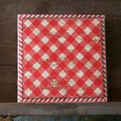 Holiday Gingham Paper Beverage Napkins