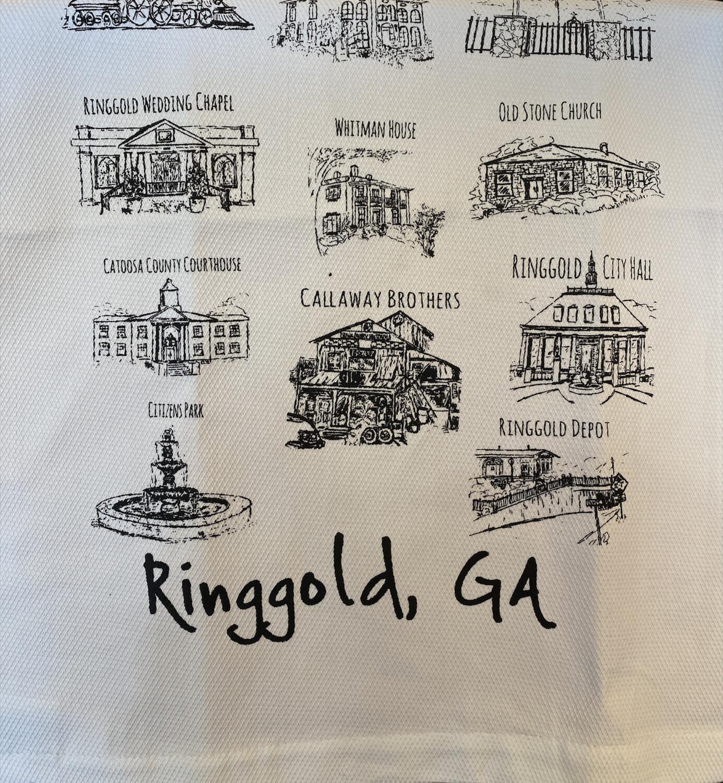 Ringgold Tea towel