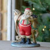 Cast Iron Santa with List