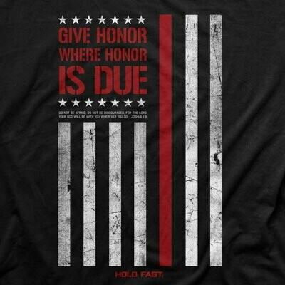 T-Shirt Firefighter Flag