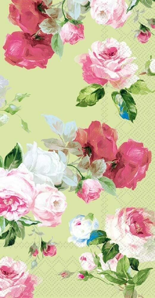 IHR 3-Ply Guest Towel Buffet Paper Napkins, 8.5 x 4.5-Inches, Scarlett Light Green