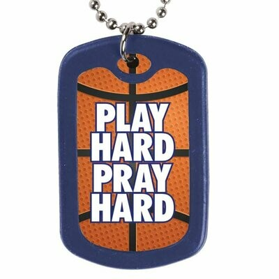 Play Hard Pray Hard Dogtag Necklace
