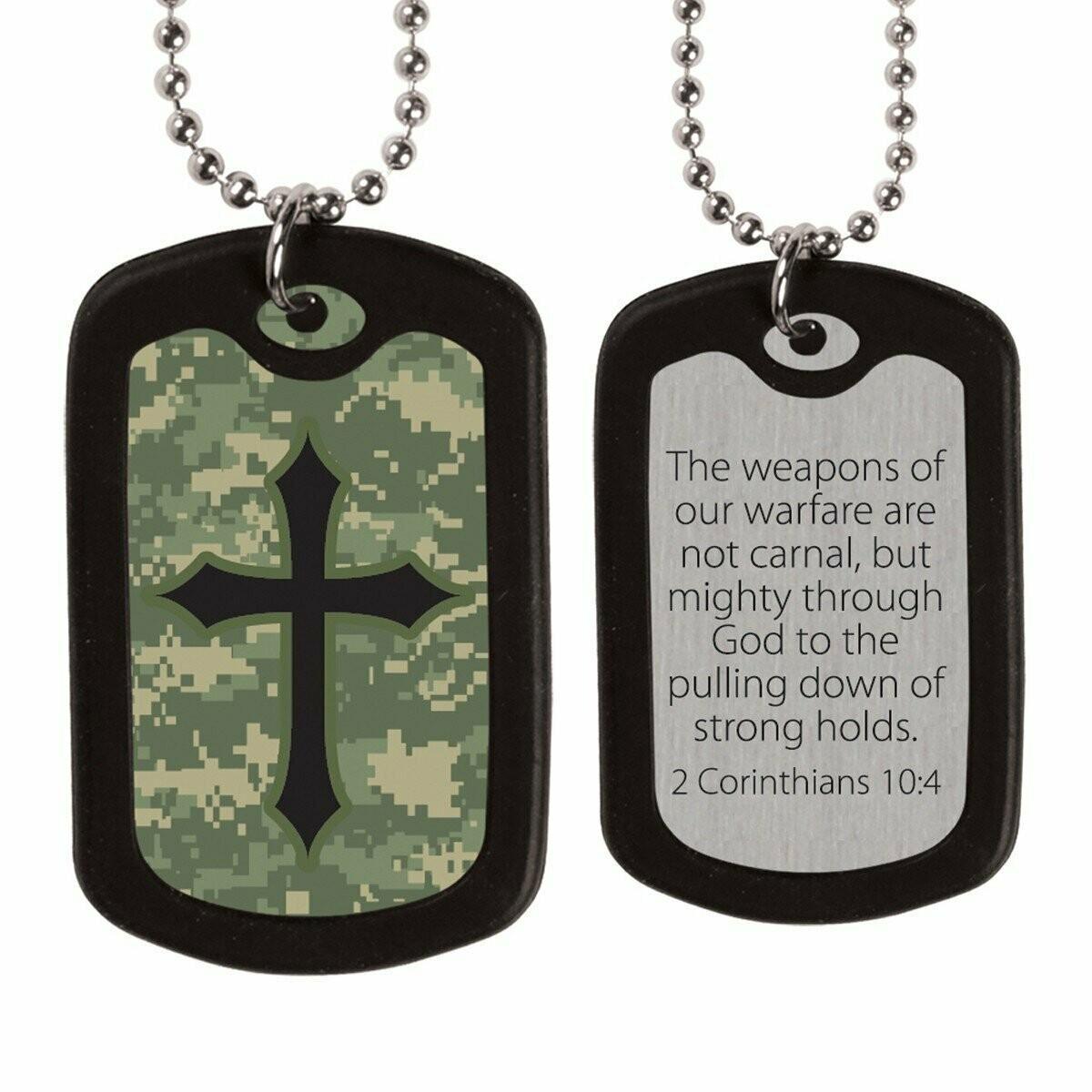 Faith Gear Digital Camo Cross Dogtag Necklace