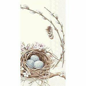 Birds nest with eggs paper guest napkins
