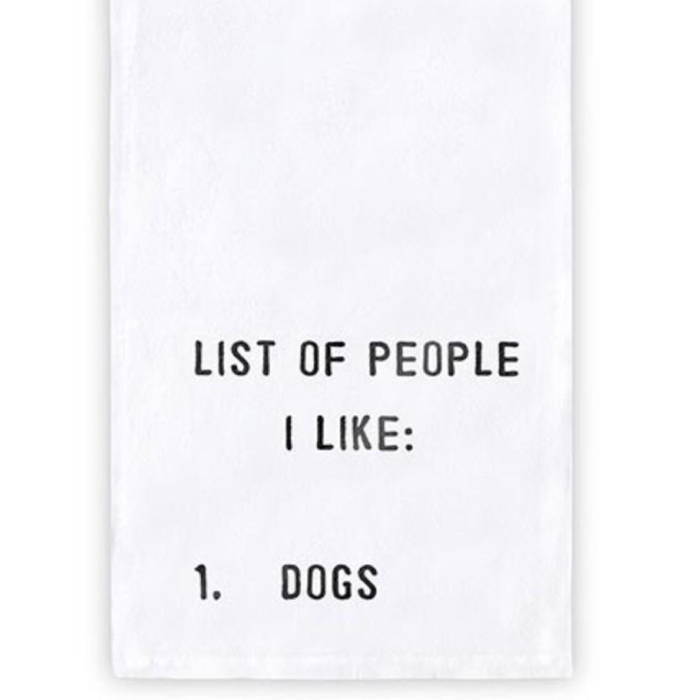 List of people I like tea towel