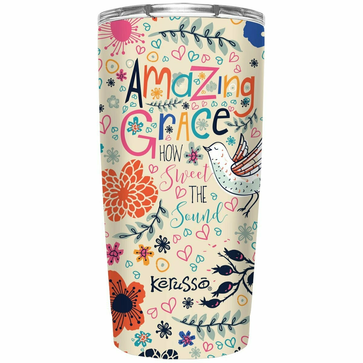 Amazing Grace 20 oz Stainless Steel Tumbler