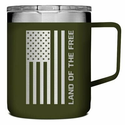 Land Of The Free Stainless Steel Mug With Handle