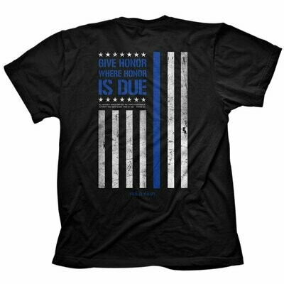 Mens T-Shirt Police Flag
