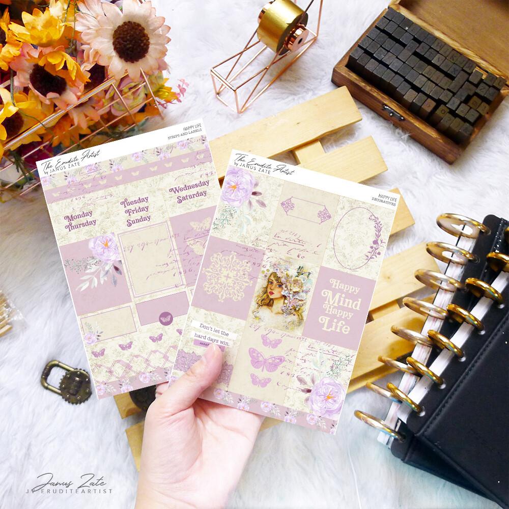 Happy Life DUO Sticker Set [PRINTS] - PREORDER