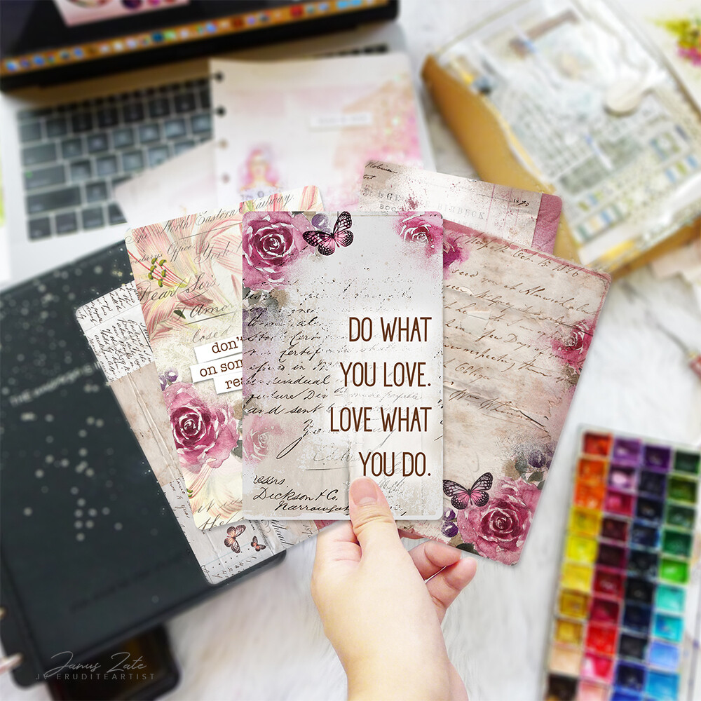 Lovely Rose Journal Cards Set [PRINTS]