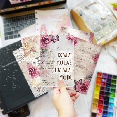 Lovely Rose Journal Cards Set [PRINTS]