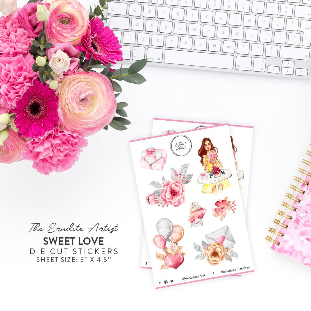 Sweet Love Die Cut Stickers - PREORDER