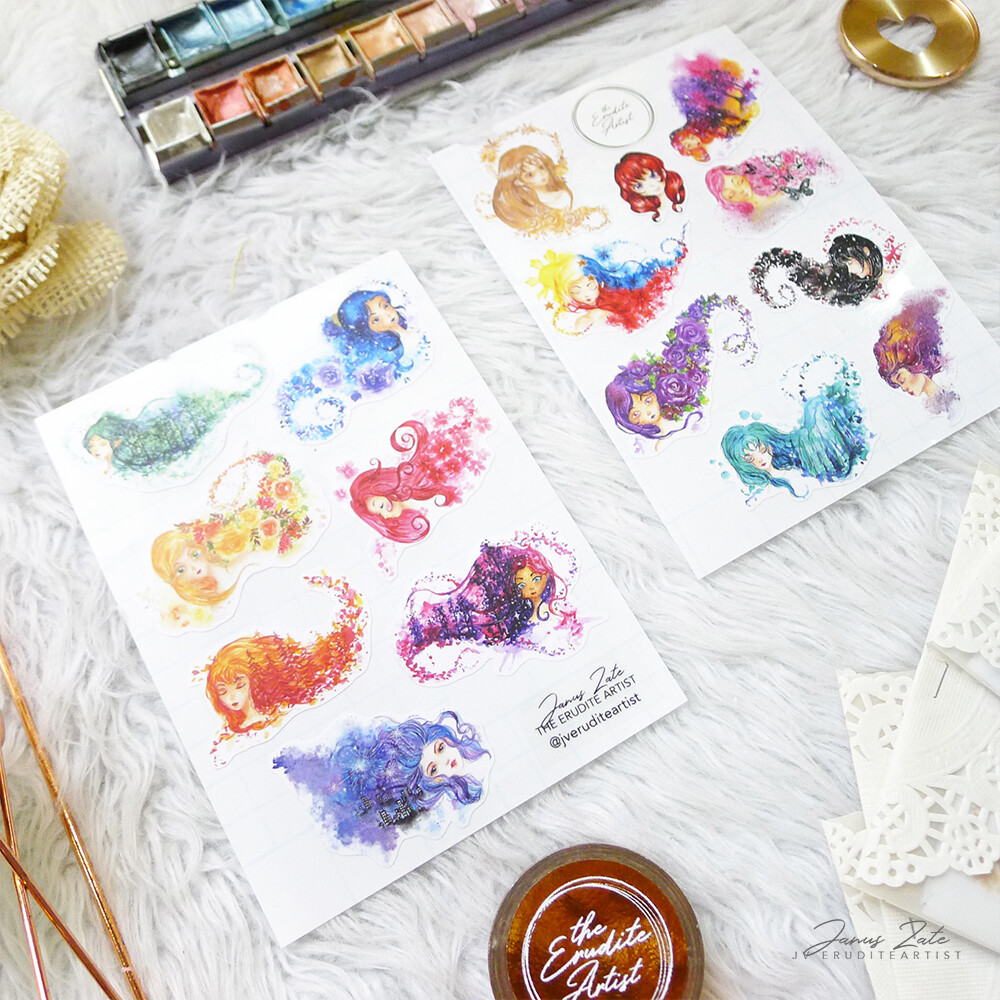 Fantasy Flora Mini Sticker Pack [INVENTORY SALE]